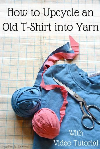 Got a few old t-shirt hanging around? Transform them into yarn you can use in crochet and knitting projects. It's easy to do, just follow the instructions in this tutorial. In just a few minutes you can upcycle those worn out t-shirts into a useable ball of yarn.