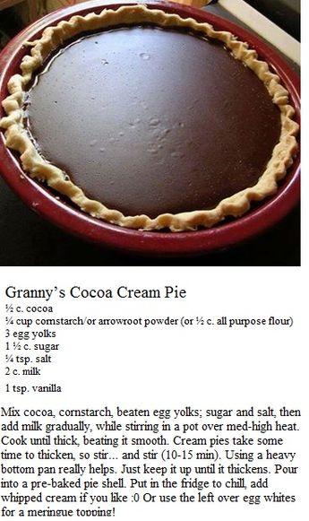 Grandma's Cocoa Pie
