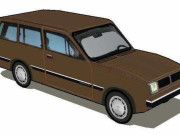 Simple 1981 Chevrolet Marajó Paper Car Free Vehicle Paper Model Download