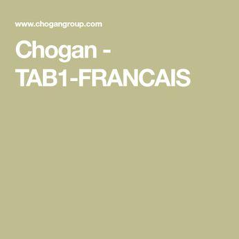 Chogan - TAB1-FRANCAIS