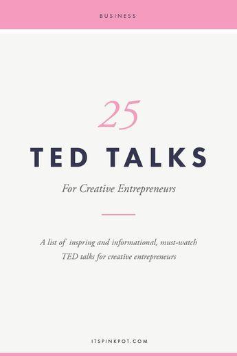 25 TED Talks for creative entrepreneurs: