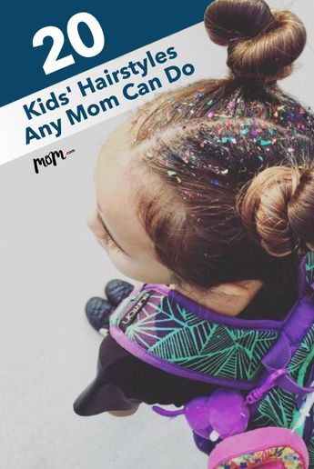20 Easy Kids' Hairstyles Any Mom Can Do: Hair can be pretty unpredictable for kids. Keep it out of their eyes with these super easy hairstyles.