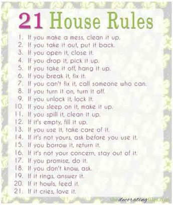 House Rules for Extended Families