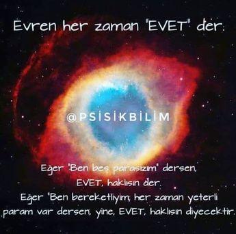 #turkiyeparapsikoloji#parapsikoloji#psikoloji#evren#uzay#evet#olumlama#pozitif#negatif#enerji#cekimyasasi#power#like