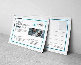 Travel Corporate Postcard Design Template - Graphic Templates