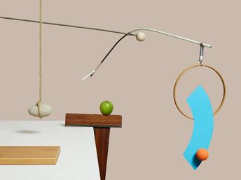 Alexander Calder mobiles reimagined as gravity-defying still lifes