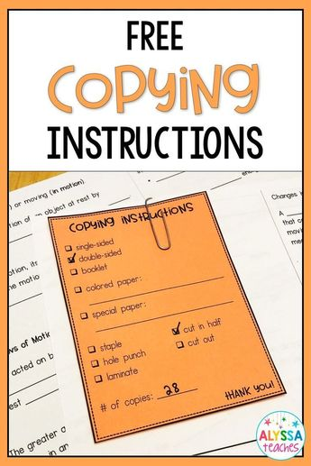 Editable Copying Instructions