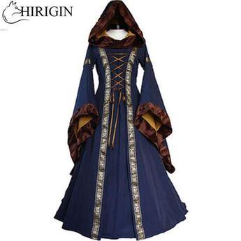Renaissance Women Costume Medieval Maiden Fancy Cosplay Over Dress halloween costumes for women Victorian Dress Costume