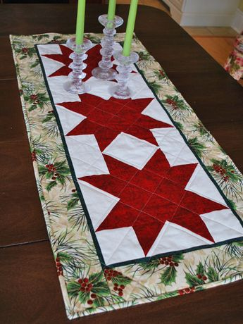 Just before heading to the cottage last weekend I showed you a hint of a table runner that I had started for the bazaar, thinking that it ...