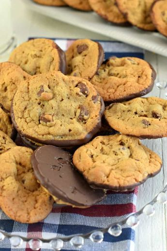 Double Chocolate Chip Cookies are the perfect chewy cookie recipe dunked in rich dark chocolate. Once you try them you'll realize this is the only way to make them!