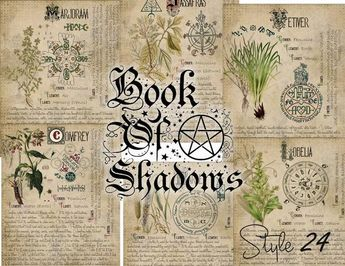 graphic relating to Printable Book of Shadows named Witchcraft Grimoire Organic Internet pages, Printable Ebook of Shadow
