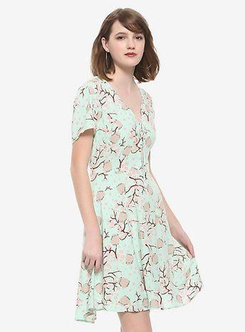Pusheen Cherry Blossoms & Pusheen Babydoll DressPusheen Cherry Blossoms & Pusheen Babydoll Dress, MULTI