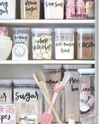 Coisa mais linda o que acham? #despensa #organização #potes #cozinha #organizesemfrescuras