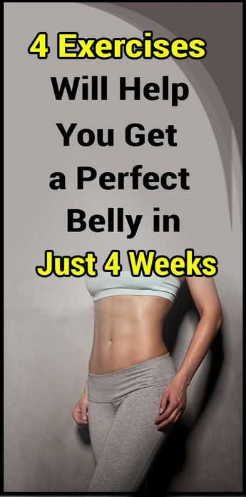 These 4 Exercises Will Help You Get a Perfect Belly in Just 4 Weeks