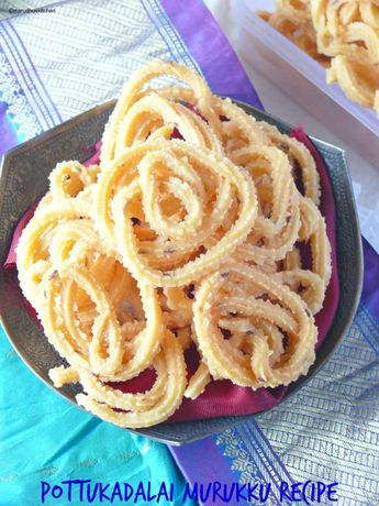 South indian murukku /pottukadalai murukku