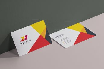 Fast Mail Visit Card Template 002924 - Template Catalog