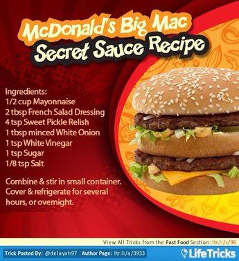 McDonald's Big Mac Sauce Recipe