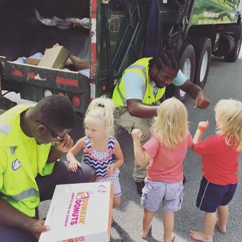 These 2-Year-Old Triplets And Their Garbage Collectors Are The Cutest Best Friends Ever