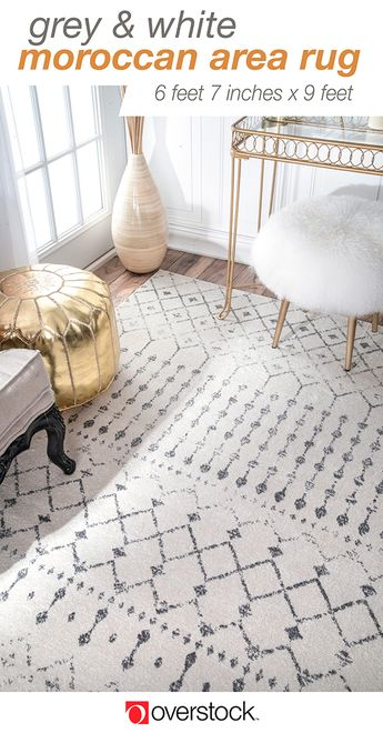 Give your home a refresh with a new area rug from Overstock.com. Shop thousands of products, like this geometric moroccan bead pattern rug,  and beautiful new furniture at the lowest prices---coffee tables, lamps, home décor, and more! Overstock.com -- All things home. All for less.