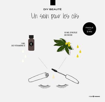 Des cils plus étoffés et plus forts, c'est possible grâce à l'huile de ricin. Appliquez ce soin tout simple avant d'aller vous coucher. Au bout de quelques applications, votre regard sera sublimé.