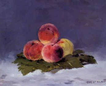 Peaches 1882 Art Print by Manet Edouard