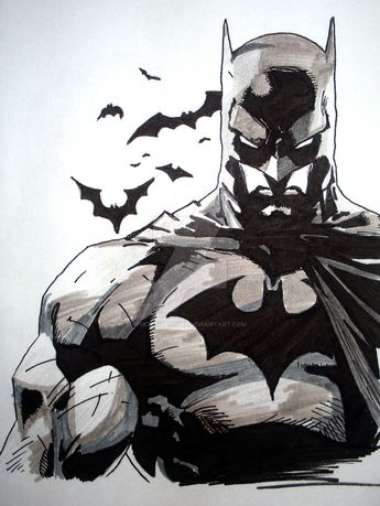 Originally Jim Lee's Design I decided to draw a Black/Grey(wash) representation of the original in one of the Hush single issues for a possible tattoo that I'd like to get on my left calf. 2B penci...
