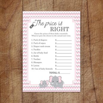 Pink Little Peanut Guess The Baby Birthday Game For Girls
