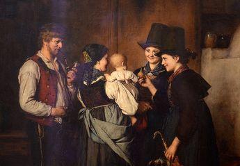 The Visit, Franz von Defregger, 1875