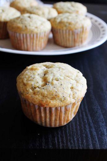 Eggless Lemon Poppy seed muffins recipe (Lemon muffins)