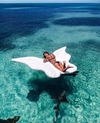 Bouée gonflable géante ailes d'ange piscine plage papillon matelas de piscine #matelas #piscine #bouée #rideon #papillon #butterfly #pool #poolparty