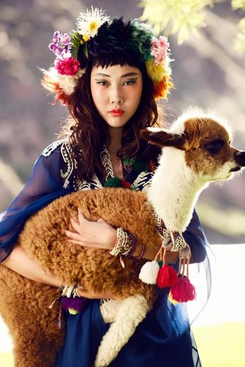 Han Hye Jin Embraces the Colors of Peru in Vogue Korea's July Issue by Alexander Neumann by Tamila