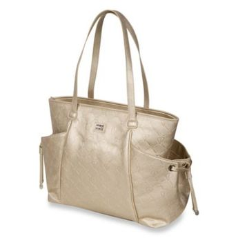3cbcdc59a9e7 Bumble Bags The Bumble Collection Embossed Tote Diaper Bag In Gold