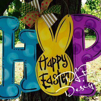 HOP Easter Door Hanger
