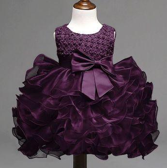 46e291b4d Infant Girls Purple Tutu Dress Ballgown Dress Ruffled Elega