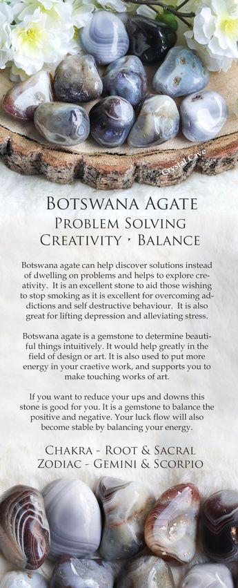 Botswana Agate Gemstone / Botswana Agate Tumbled Stone / Botswana Agate Cuddle Stone / Crystal for Problem Solving Creativity and Balance