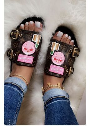 Lux Mule LV Slides #SandalsHeels