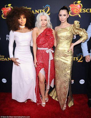Dove Cameron Is Pretty In Red Dress At Descendants  Premiere