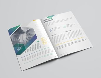 16 Pages Minimalist Elegant Corporate Brochure Template - Graphic Templates