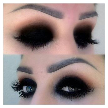 Black eyeshadow makeup | Hair and makeup | Pinterest ❤ liked on Polyvore featuring beauty products, makeup and eye makeup