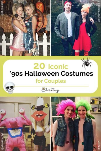 20 Iconic '90s Halloween Costumes for Couples: For many who grew up during the '90s, childhood nostalgia is a part of everyday life. Here are the best Halloween costume ideas that celebrate the 1990s. #halloween #halloweencostumes #halloweencostumesforcouples #nostalgichalloweencostumes
