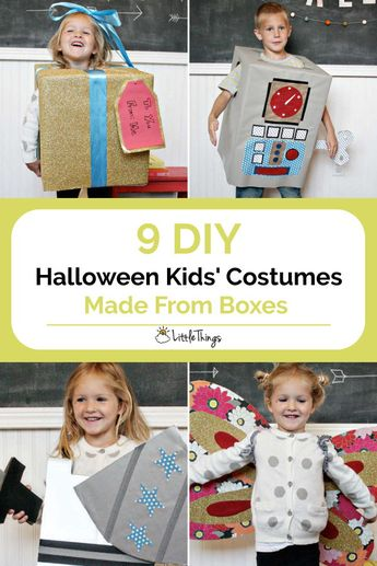 9 DIY Halloween Kids' Costumes Made From Boxes: If you adore homemade Halloween costumes but feel bothered by the thought of spending hours making one, these solutions will be perfect for you.