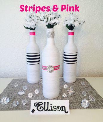 wine bottle decor ellison bottles wedding centerpiece bridal shower centerpiece