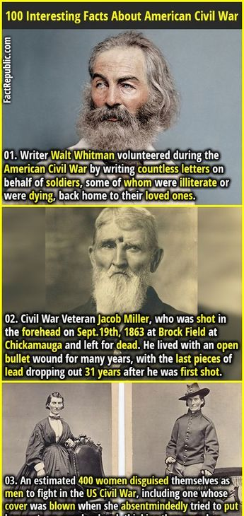 100 Interesting Facts About the American Civil War