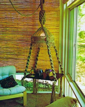 Fabulous Vintage Macrame Patterns One of a Kind Hanging Tables Planters Vessels Wall Hanging Pattern
