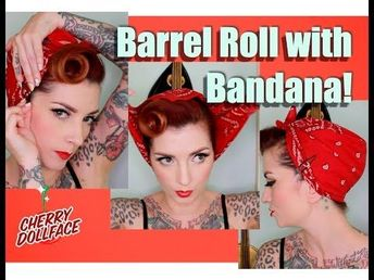 EASY Vintage Hair! Barrel Roll with Bandana! by CHERRY DOLLFACE - YouTube