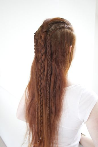 Hairstyle inspired by Bifur in the Hobbit