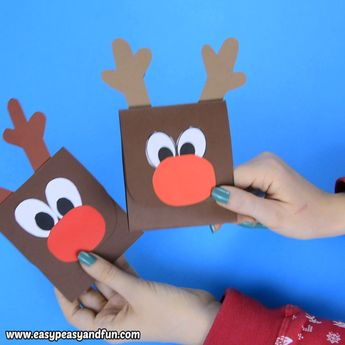 Reindeer Sticking out His Tongue Christmas Card