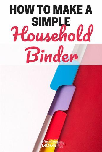 Make a Simple Household Binder