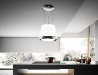 Island hood with integrated lighting Édith by elica #desi