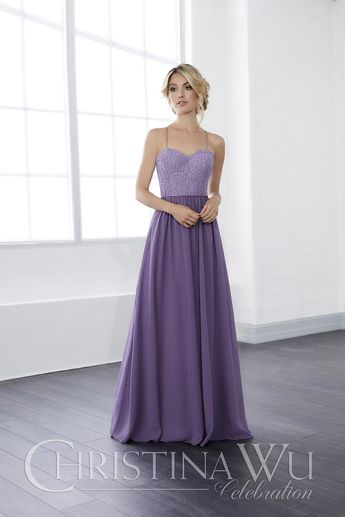 35224a24b2c Size 12 Ivory Christina Wu 22815 Lace and Chiffon Bridesmaid Gown